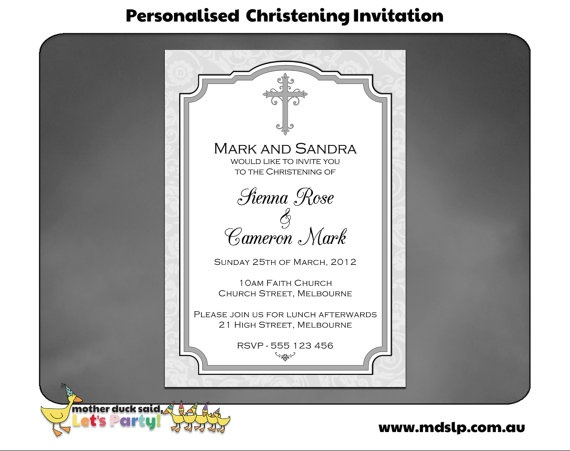 27 best Baptism images on Pinterest Christening invitations - sample baptismal invitation for twins