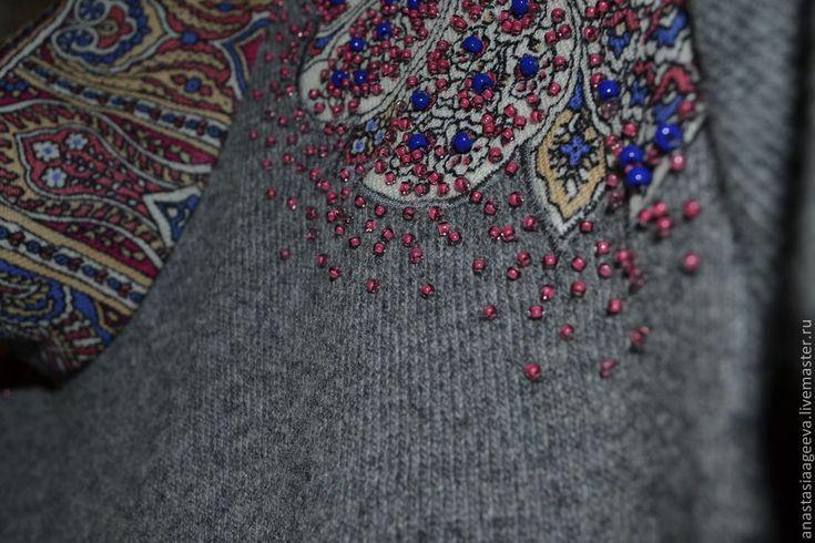 """Купить Платье """"Царевна"""", расшитое бисером. - орнамент, платья ручной работы, платье с вышивкой"""