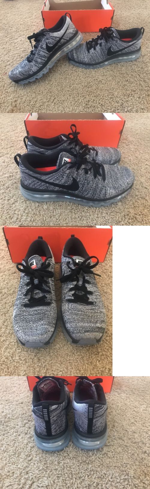 Athletic 15709: Nike Men S Flyknit Air Max Running Shoes. Size 9.5. Oreo. 620469-105 -> BUY IT NOW ONLY: $150 on eBay!