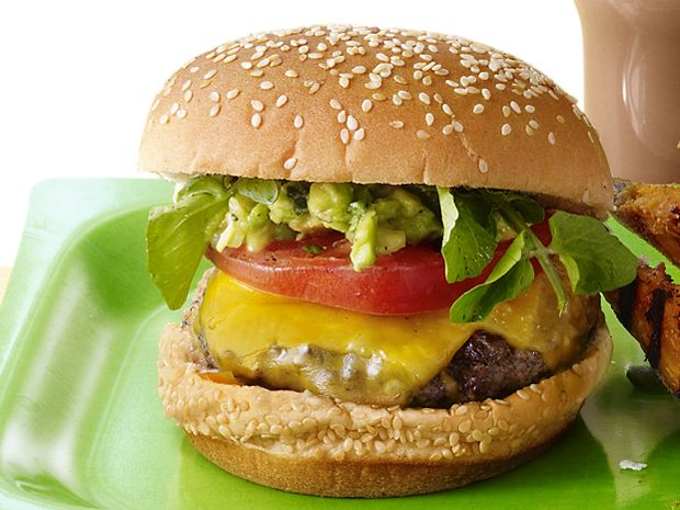 Bobby's L.A. Burger from #FNMag #GrillingCentral: Food Network, Bobby Flay, Avacado Burgers, Tasti Recipes, La Burgeryummi, Burgers Recipes, Favorite Recipes, L A Burgers Yummy, Summer Recipes
