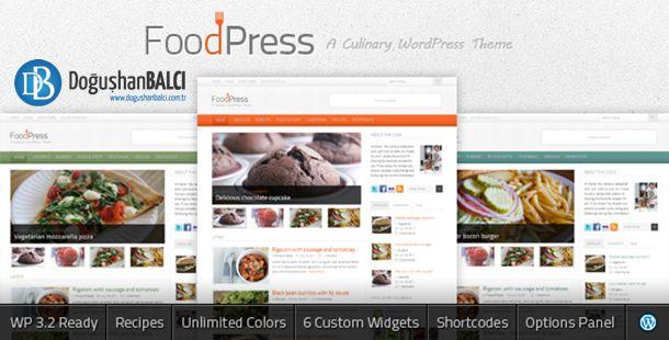 foodpress wordpress teması