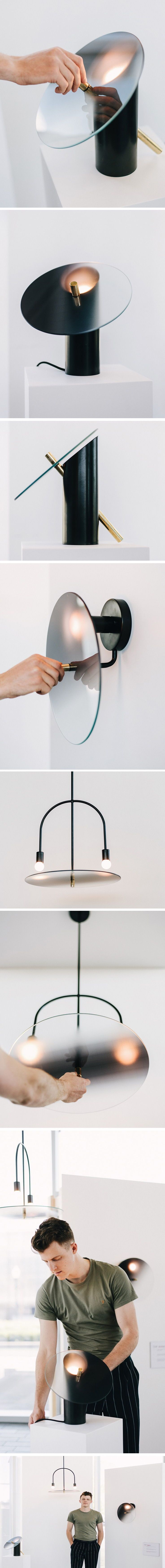The Tinge series of lamps by Jacob Starkley are si…