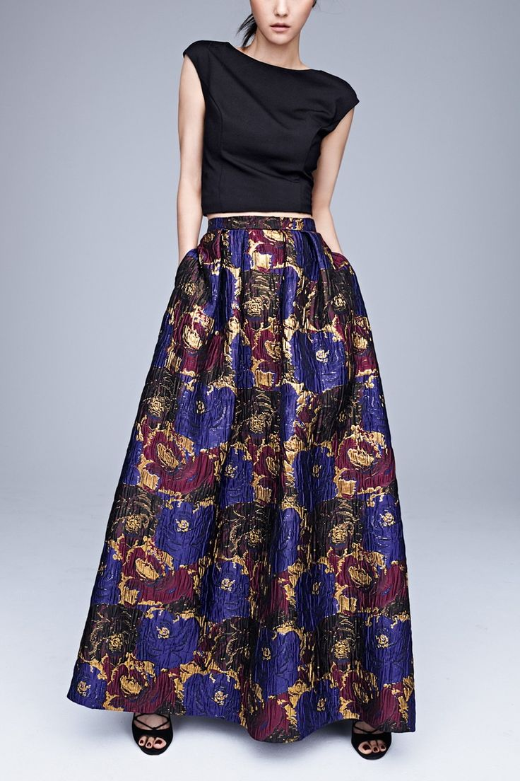 Obsessed with this Aidan by Aidan Mattox two-piece gown. It's so unexpected, it's brilliant!