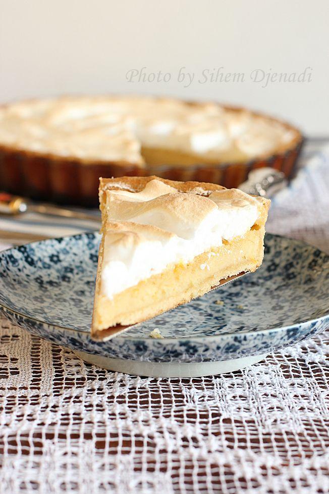Miel et Epices : tarte meringuée aux amandes et citron