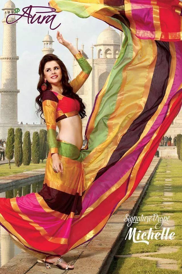 Multi coloured vibrant cotton saree. My personal fav!