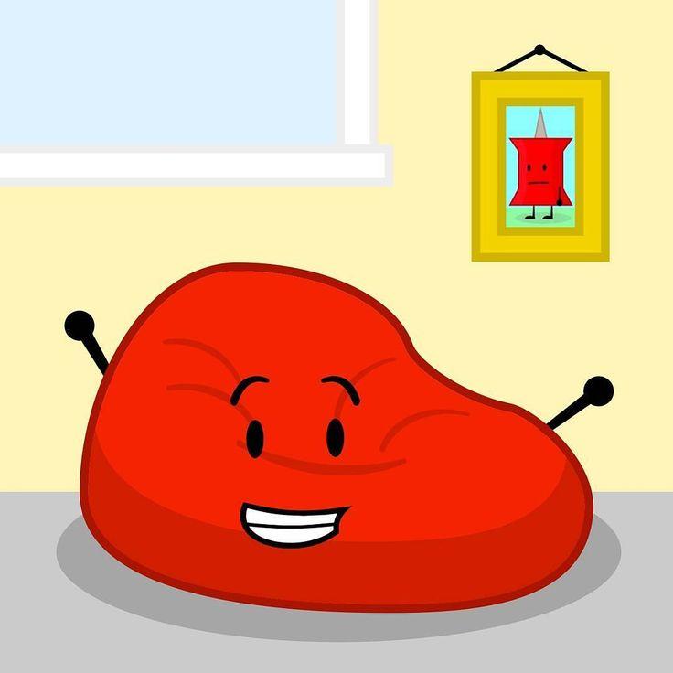 Bfdi Mouth Sad: Bean Bag With Pin Picture #bfdi #bfdia #bfb #idfb #beanbag