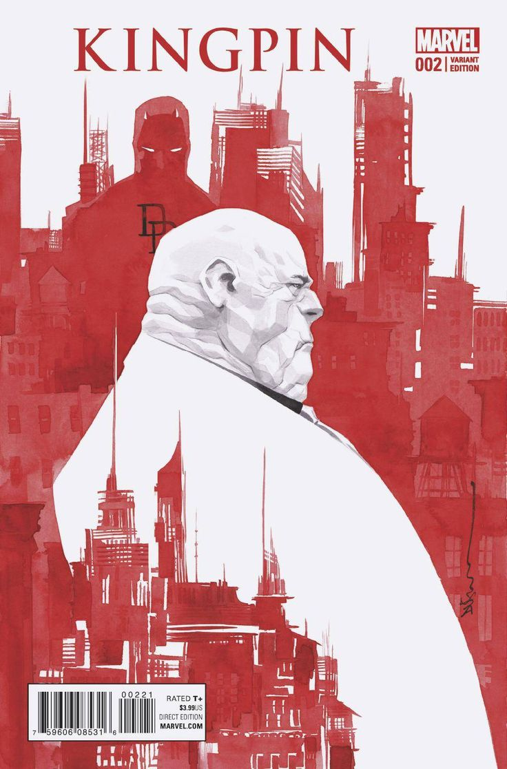 Watercolor book covers - Civil War Ii Kingpin 2 2016 Variant Cover By Dustin Nguyen