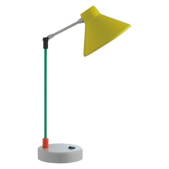 A Habitat classic design with a modern twist, the Bobby multi-coloured metal desk lamp features a combination of 5 vibrant colours in powder coated metal.[br]Great for adding colour to the room, the lamp can be used as a table, desk or bedside table lamp.[br]The table lamp features a single jointed slim stem and adjustable head to allow light to be directed where required.[br]Part of the Bobby desk and floor lamp collection designed by and exclusive to Habitat and available in various…