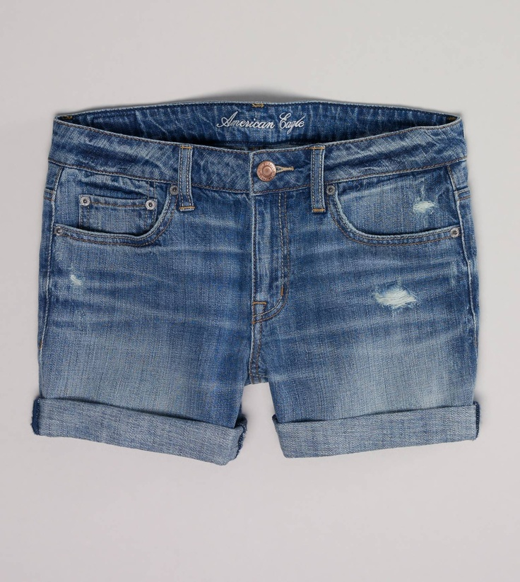 AE DENIM BOYFIT MIDI SHORT... Obsessed w these last season... Will-buy-more-this-season!!!! Lol!
