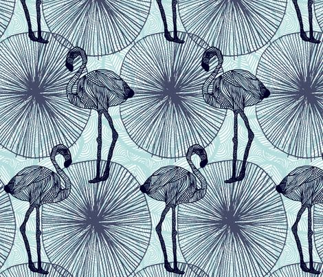 Flamingos by demigoutte on Spoonflower