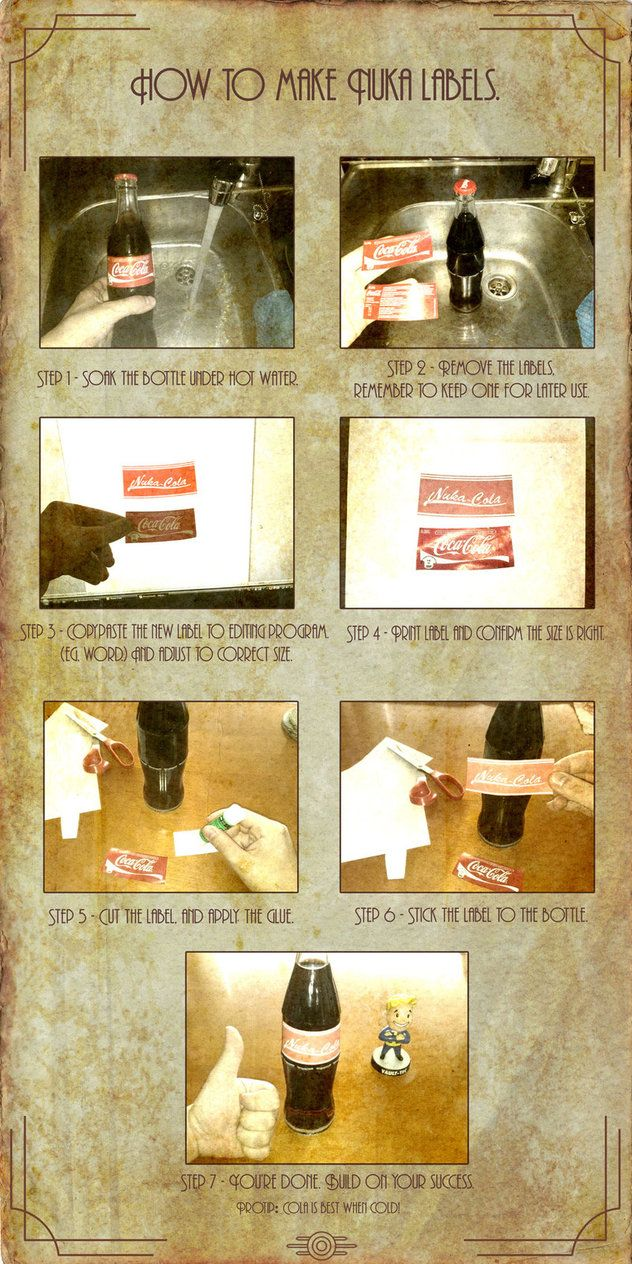How to make Nuka-Cola labels by ~Whatpayne on deviantART
