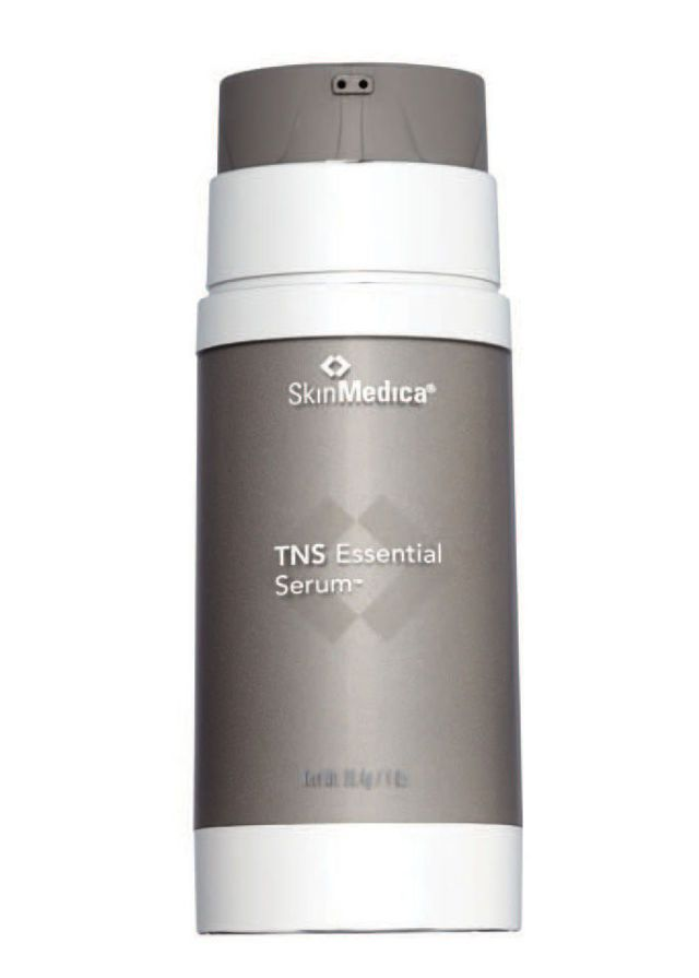 """The SerumWith one pump, my skin is getting everything it needs—other than a retinoid,"""" says Annie Chiu, MD, attending dermatologist at Cedars-Sinai Medical Center in Los Angeles, of this serum, which contains seven antioxidants, skin-plumping hyaluronic acid, collagen-stimulating growth factors, and brightening alpha-arbutin. In an in-house study, published in a supplement to the Journal of Drugs in Dermatology in 2009, subjects who applied TNS Essential Serum twice daily for 10 days on a…"""