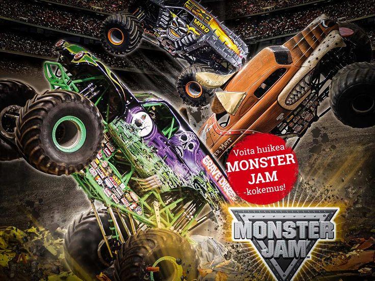 Monster Jam -kilpailu - laatuaikaa tarjolla! Osallistu kilpailuun täällä: https://secure.emp.fi/com_2908_participate/?wt_mc=sm.pin.fp.monster-jam-kilpailu.28102015 - Palkintona tarjolla 2 lippua, 2 varikkopartylippua ja kahden hengen hotellimajoitus!