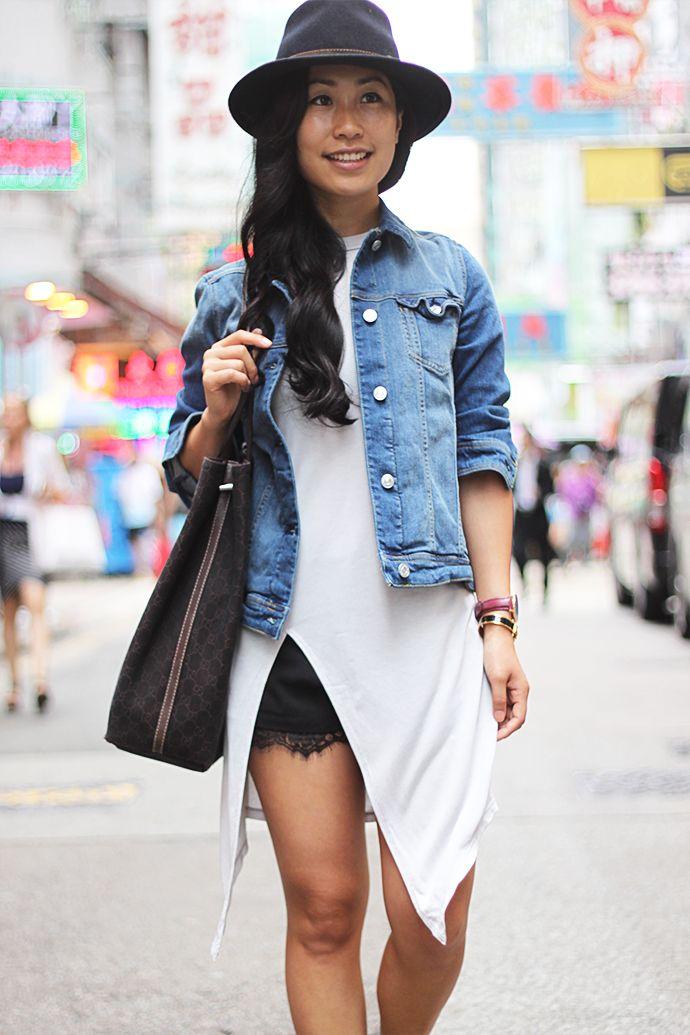 Hong kong billboards #monki #monkistyle #mango #denim #jacket #gucci #hat #Carlalafashion #fashion #streetstyle #split #top #hongkong #asia #ootd #outfit #blog #HK