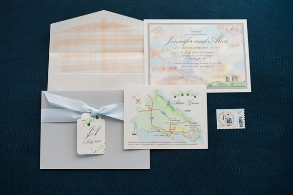 Destination wedding stationary suite | Luxury Greek Wedding