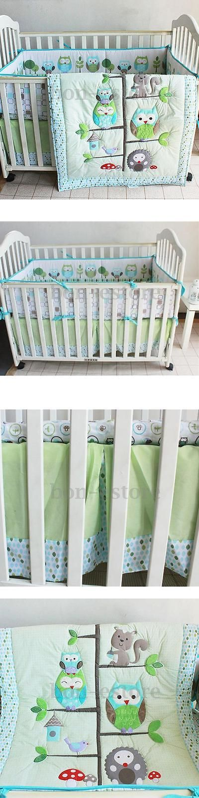 Nursery Bedding Sets 162040: 7Pcs Baby Bedding Set Owl Family Nursery Quilt Bumper Sheet Soft Crib Skirt Us -> BUY IT NOW ONLY: $67.98 on eBay!