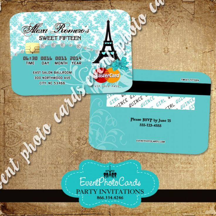 Paris Credit Card  - Teal B
