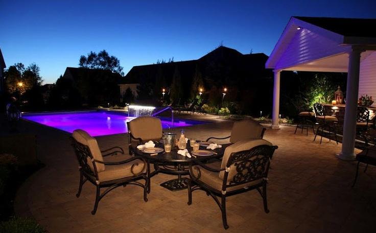 Paver patio cambridge ledgestone sahara chestnut pool for Pool design long island ny