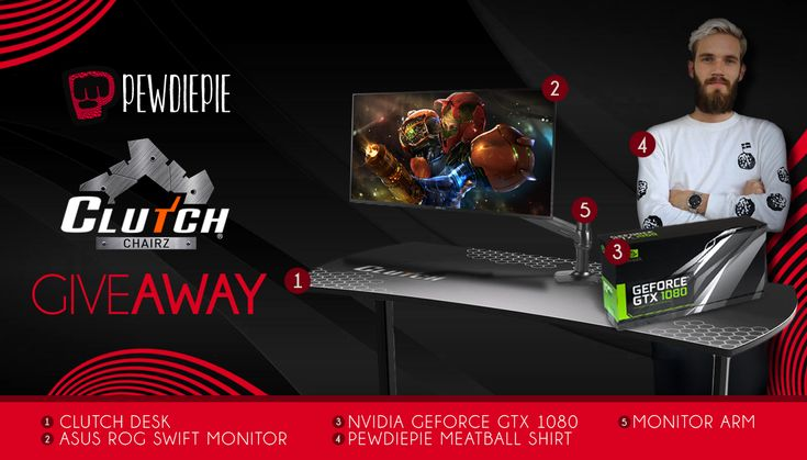 Pewdiepie clutch chairz giveaway ends nov 30th