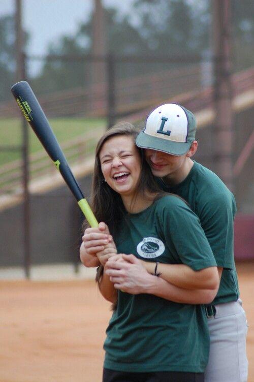 Baseball softball couple pictures