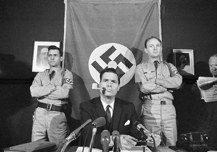 American Nazi Party commander George Lincoln Rockwell (1966). He was later assassinated.