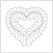 heart feather quilting - Google Search