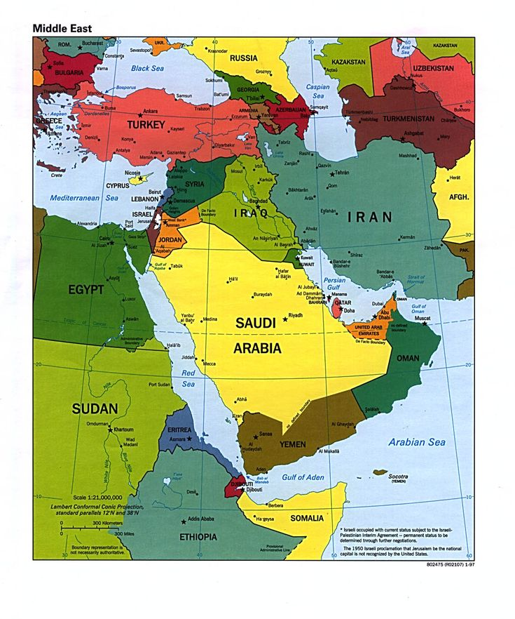 7 best Maps middle east images on Pinterest  Middle east