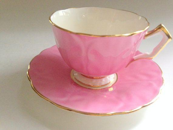 Aynsley Tea Cup and Saucer, Tea Cups, Tea Set, Bone China Tea Cup, Teacups Vintage, Cup Antique, Pink Tea Cups, Tea Party, Cups Antique