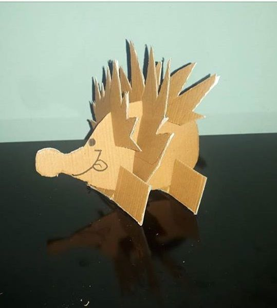 Billedresultat for hedgehog cardboard