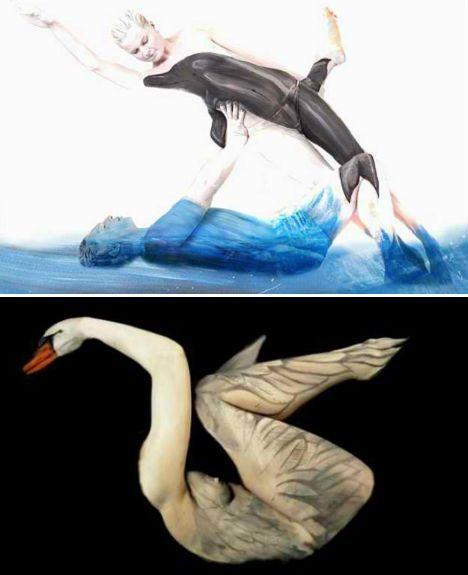 body painting--peinture corporelle--pintura corpal - Collections - Google+ Amazing Inspiration! Body Paint Illusions Transform Human Models into Animals