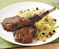 Charmoula Lamb Chops with Curried Couscous
