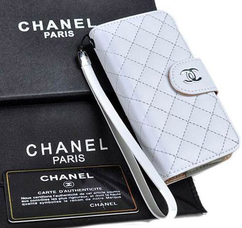Classic chanel iphone x 8 7 6s plus cases napa wallet white