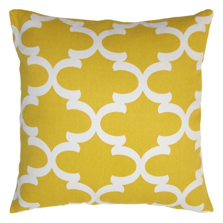 Throw Pillow Inserts 18 X 18 : Amazon.com - JinStyles Cotton Canvas Quatrefoil Accent Decorative Throw Pillow Cover (Yellow ...
