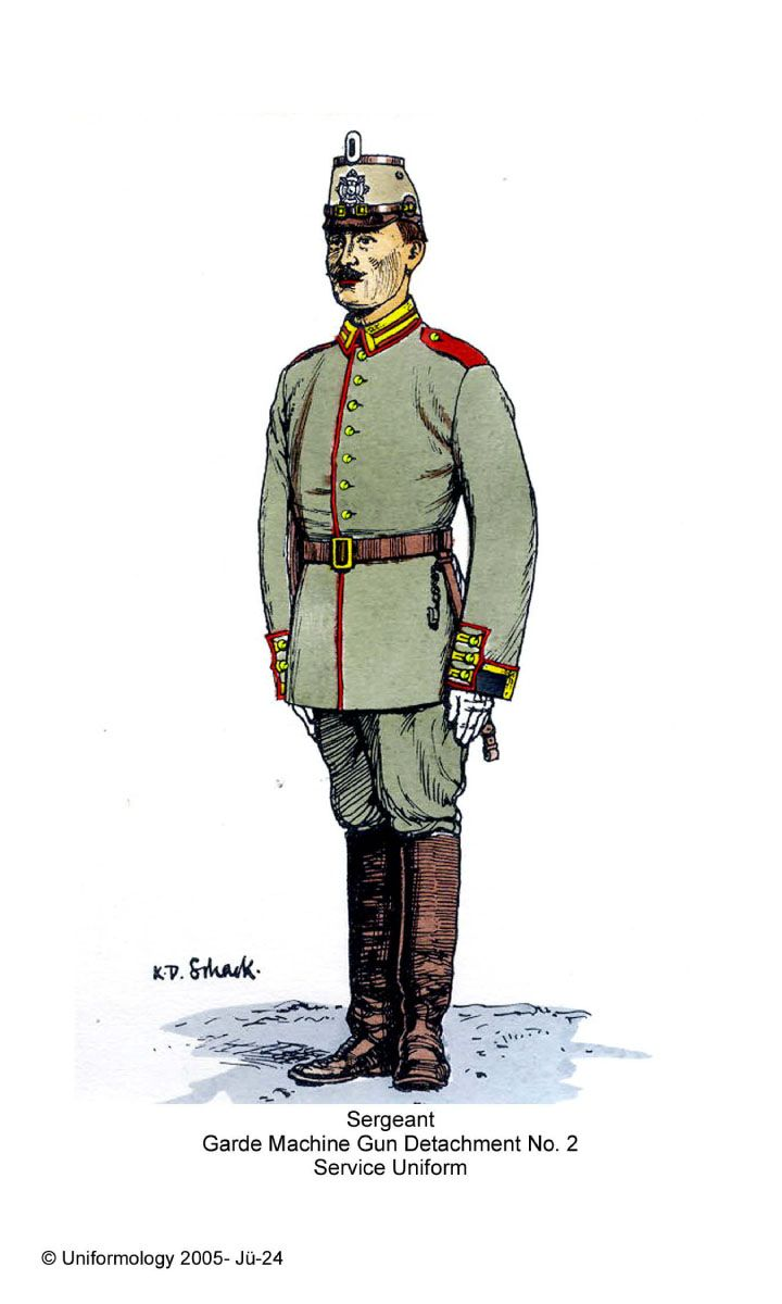 The Imperial German army,1914 infantry parade uniforms ...
