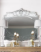 mirror: Elaina Mirror At Horchow, Living Rooms, Mirror Mirror, Antiques Mirror, Wall Mirror, 2014 Bedrooms, Style Bathroom, Bedrooms 2013, Beautiful Bedrooms