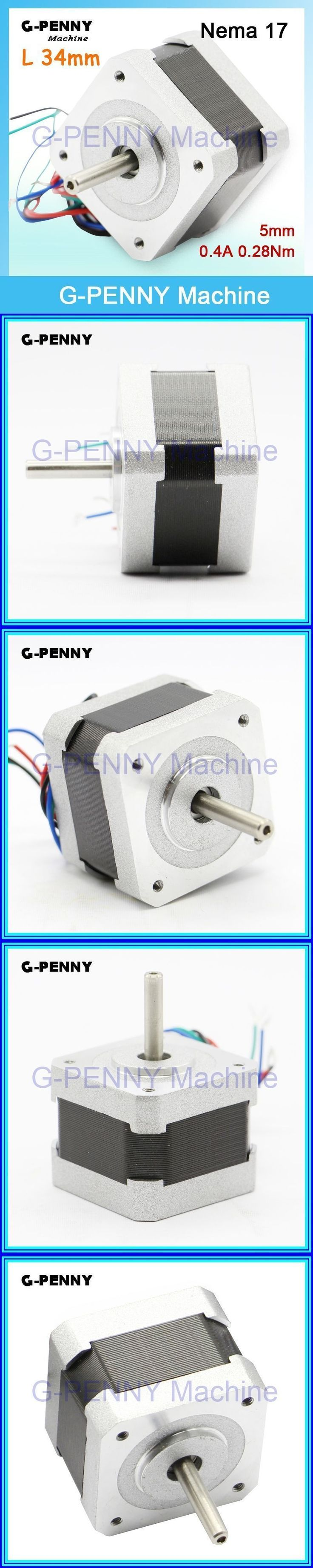 Sale! Nema17 CNC stepper motor 42x34mm for sale 0.4A 0.28N.m 1.8degree  40Oz-in 4-Lead stepping motor For CNC machine 3D Printer #3dprintermachine