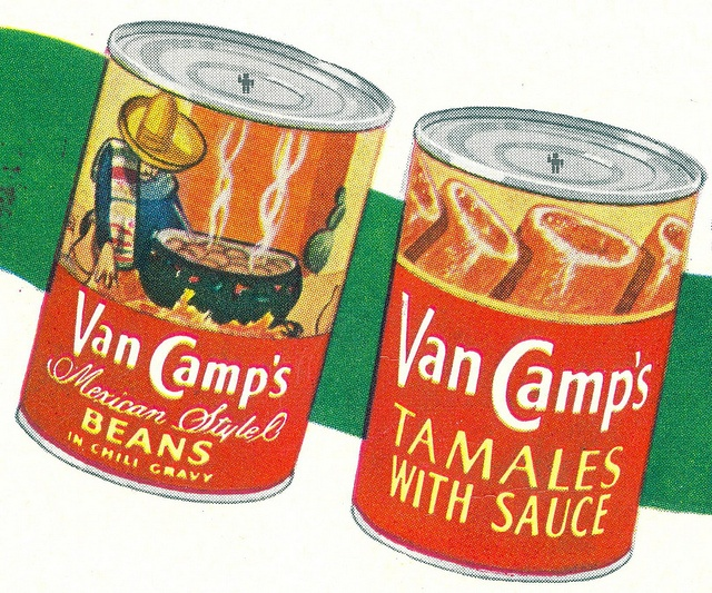 1951- Van Camp's Chili can designs