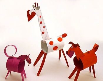 animals from toilet paper rolls