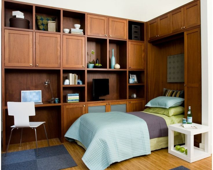 fold up wall bed and cabinets for dual purpose transitional room as office and bedroom of Brilliant Dual Purpose Furniture You Should Have