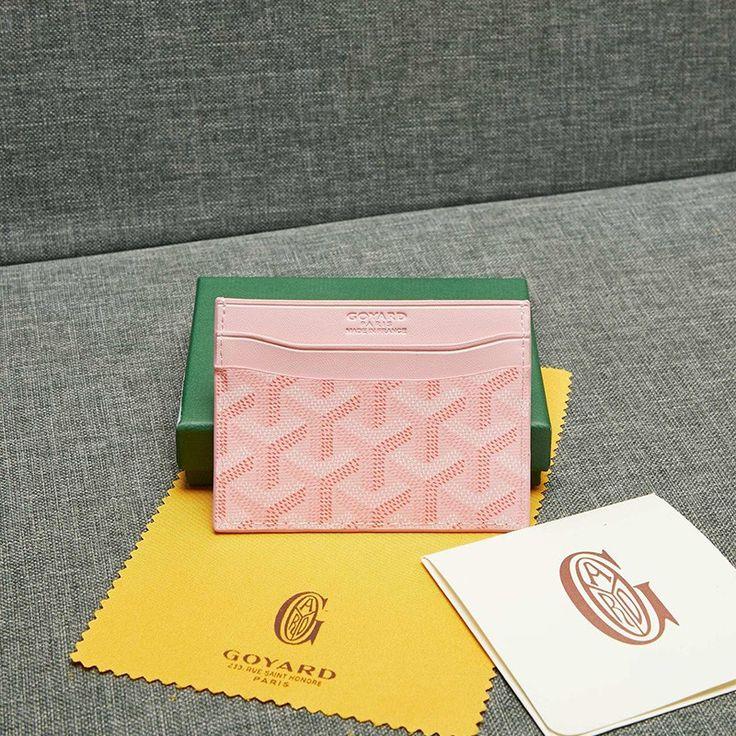 Goyard goyardine saint sulpice card holder pink in 2020