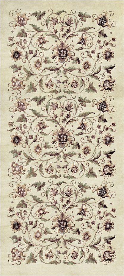 Ornament on wallpaper
