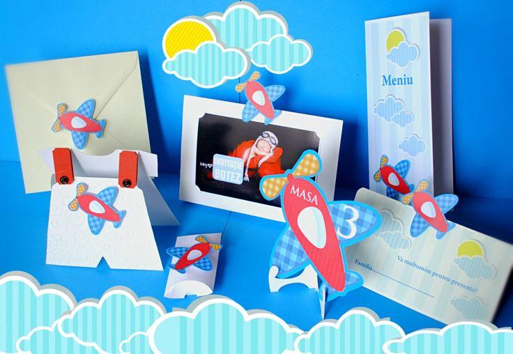 Bebelusul aviator si-o petrecere pe nori