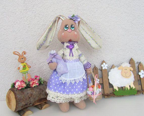 Stuffed bunny rabbit hare plush bunny от NICEDOLLSANDRABBITS