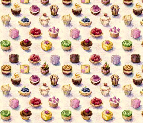 Spoonflower fabric - spoon_flower_cakes by daniellehanson - Children/Whimsical
