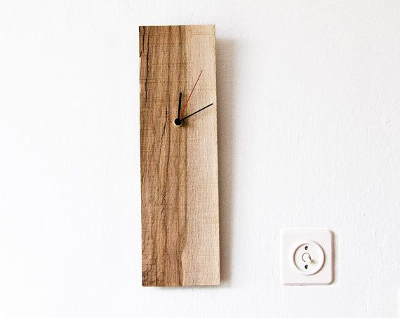 Wall Clock Salvaged Wood Modern Wall Hanging Clock ELIAN D on Etsy, $59.00 - I could totally make this for way less