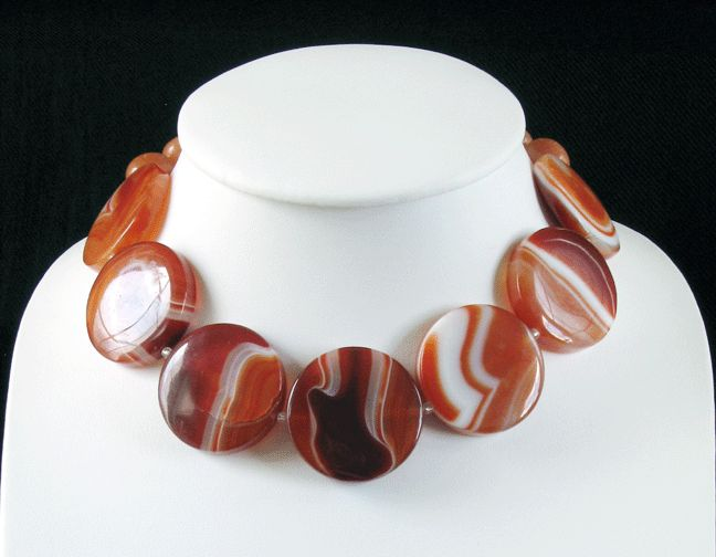 Stunning Carnelian necklace by Gef Tom Son at the Enterprise Centre, http://enterprise-centre.org/shop/gef-tom-son