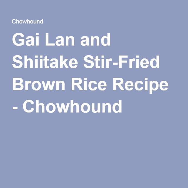 1000+ ideas about Fried Brown Rice on Pinterest | Brown Rice, Rice and ...