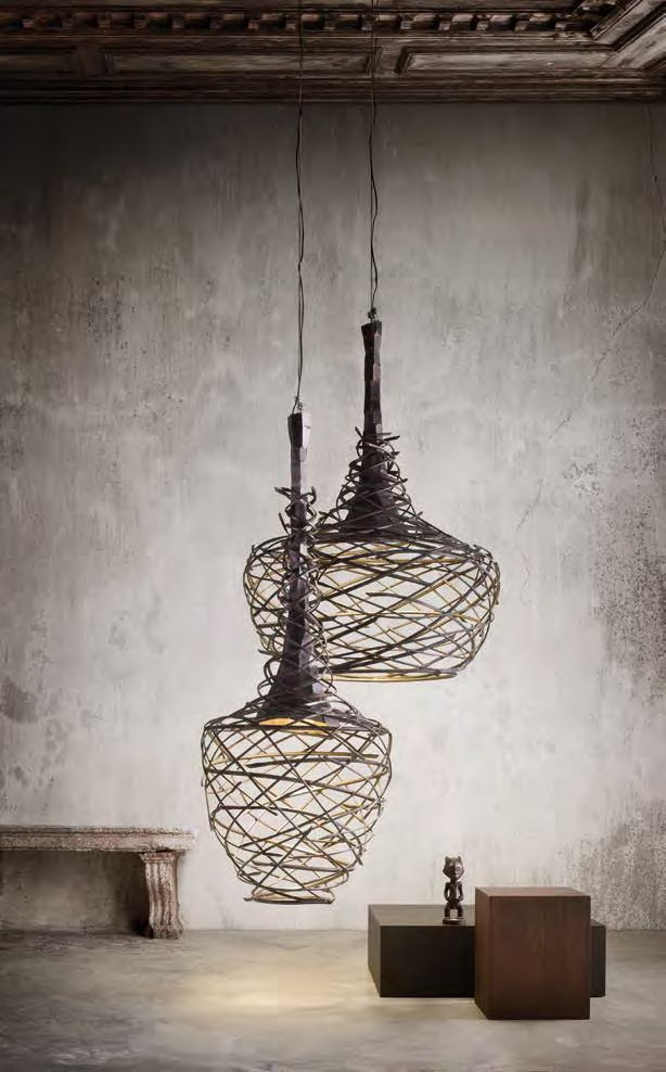 NEST - Suspension lamp made ​​of iron tubing by Elite To Be.