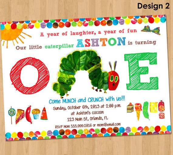 The Very Hungry Caterpillar Invitations was great invitation template