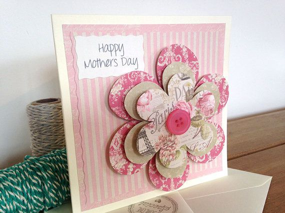 Mothers Day Card Sister Birthday 3D Flower Mothering